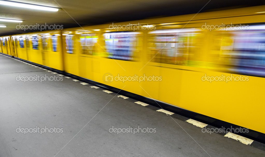 Departing Arriving Subway As Symbol In The Station Stock Photo