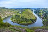 Fotografie Saar loop at Mettlach, famous view point