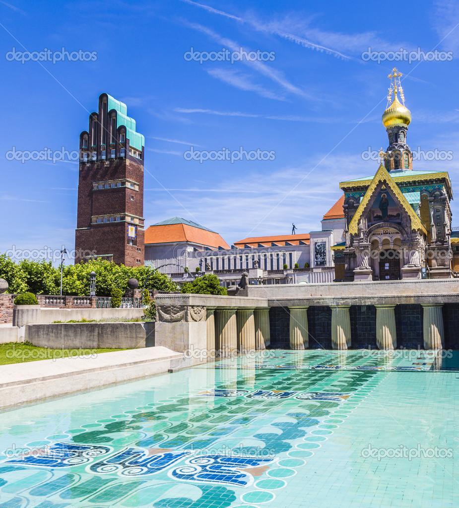Darmstadt Swimming Pool mathildenhoehe in darmstadt jugendstil nouveau germany