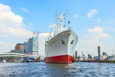 MS Cap San Diego in the port of Hamburg