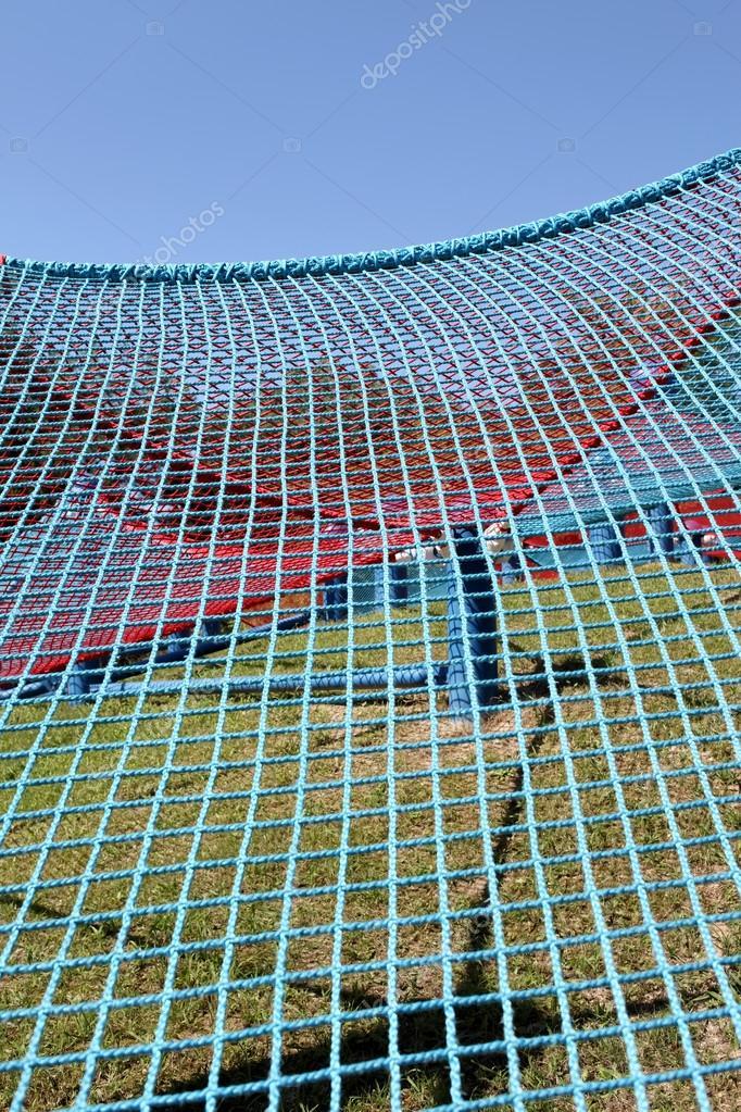 Blaues Klettergerüst Seile — Stockfoto © akiyoko74 #32377127