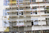 Fotografia facciata di ricostruzione delledificio per uffici moderni