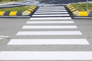 Crosswalk with road marking