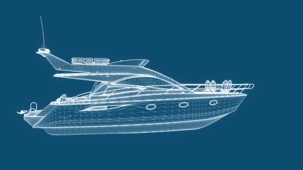 Blueprint rekreační loď, bezešvé smyčka