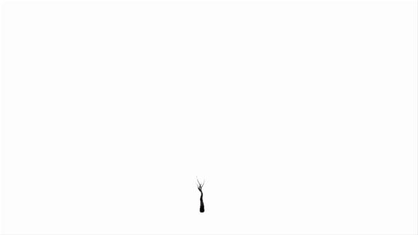 třešňový strom, který roste, 3d animace