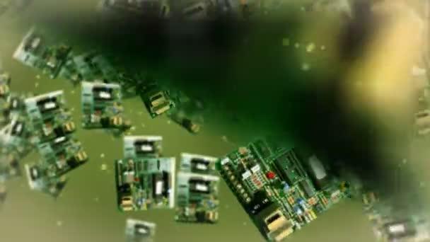 Circuit board against green