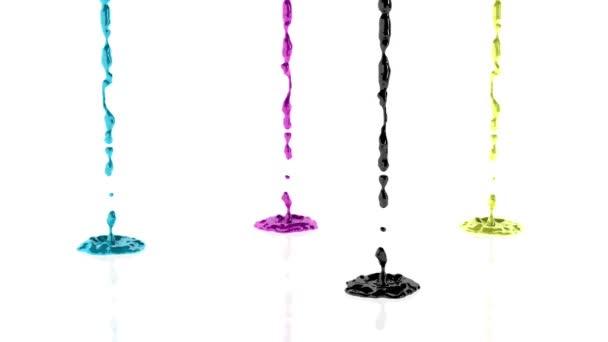 CMYK malování splash proti bílé