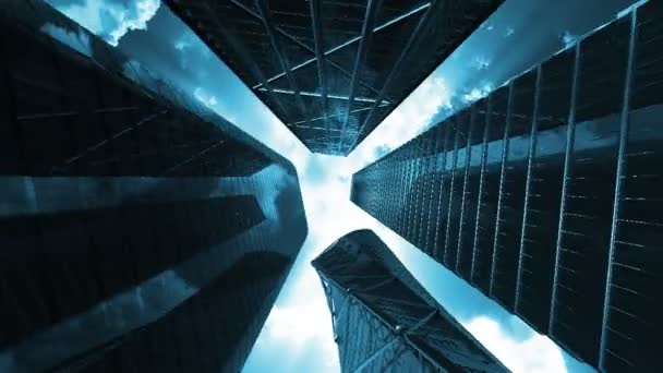 firemní budovy, bezešvá smyčka, alfa kanál