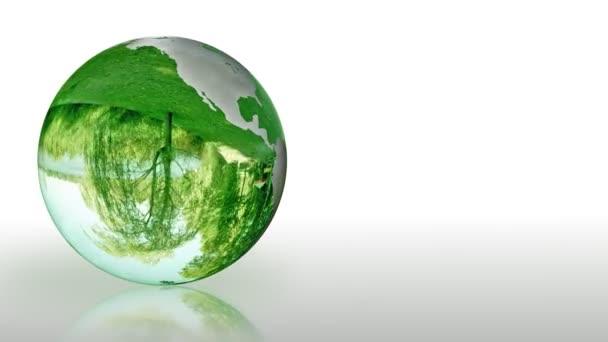 země světa ze skla, ochranu životního prostředí, opakování