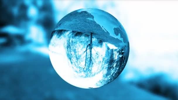 země zeměkouli, modré sklo, příroda lámou, smyčka