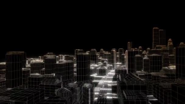 エッジ グローのスケッチ都市に飛んで、