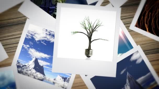 ambientale presentazione animata di polaroid