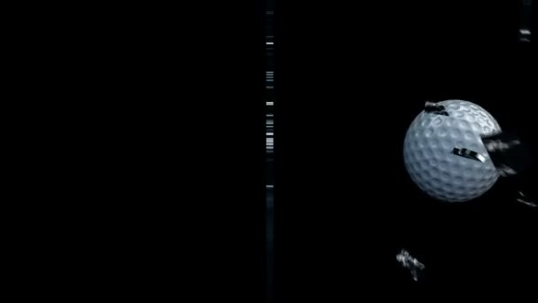 golfball rozbití skla,