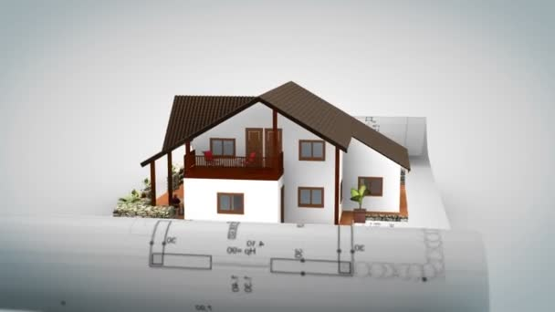House on Blue Print RGB to White Out with Alpha