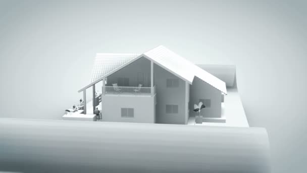 House on BluePrint White Out with Alpha