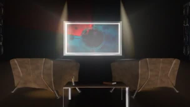 interiorroom, tv odpočítávání lesk, projektor zvuk
