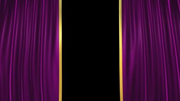 Lilla theater Fluwelen gordijnen — Stockvideo © circotasu #13156259