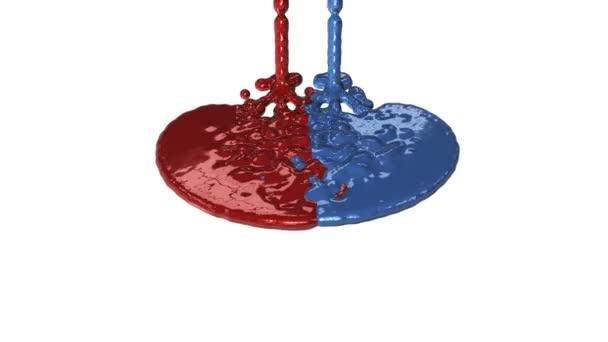 dipingere di rossa e blu perdite, alfa inclusa