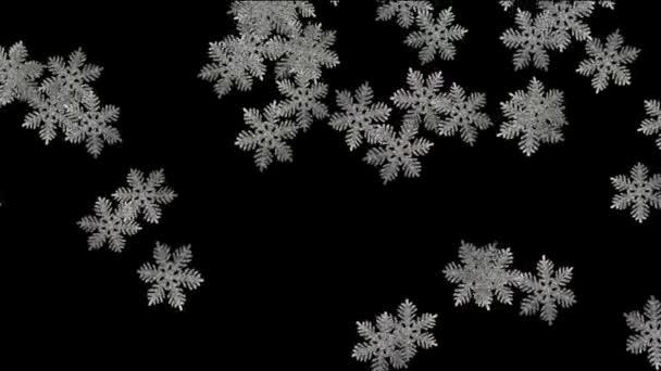 fiocchi di neve cadere con canale alfa
