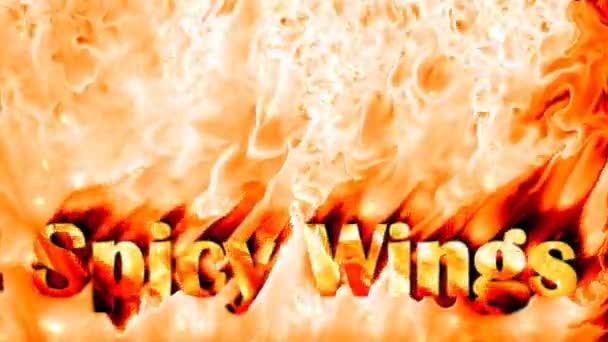 Fűszeres szárnya tüzet háttér