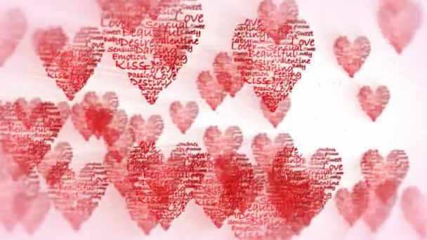 Valentine srdce létání