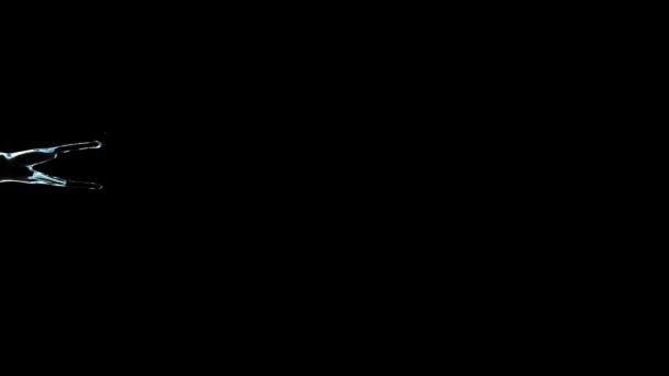 Vízfolyások áramlási ellen fekete