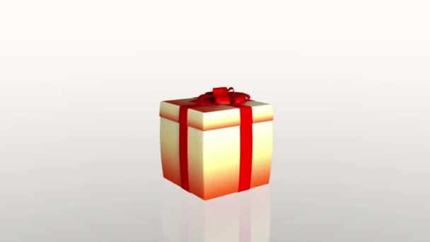 Ajándék doboz nyitó fedél bemutatni egy tabletta, ellen, fehér