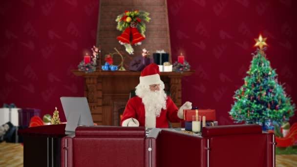Decorazioni Ufficio Natale : Babbo natale lettura lettere ufficio con decorazioni di natale