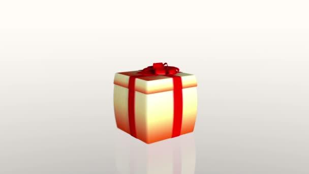Dárková krabice otevírání víka představit tablet, proti bílé