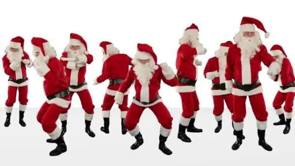 Csomó Mikulás tánc ellen fehér, karácsonyi ünnep háttér