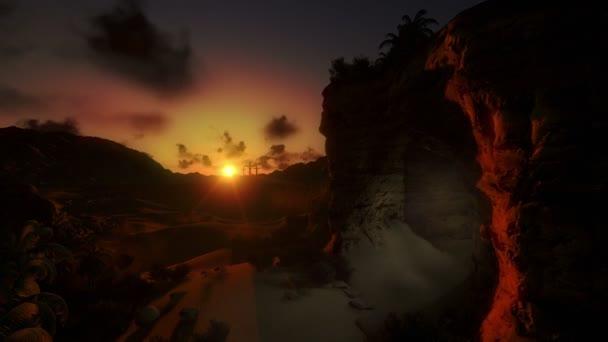 Jézus a kereszt napkeltekor és a fény a feltámadás