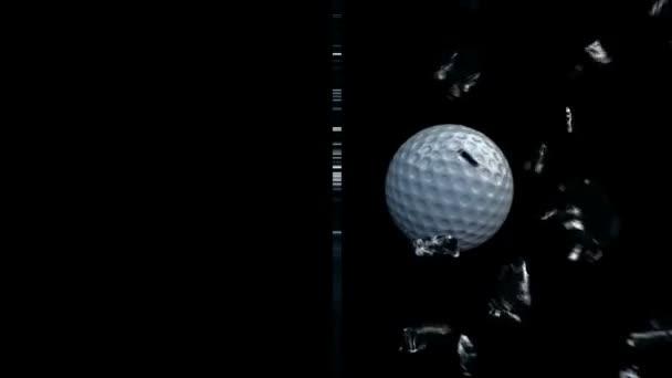 golfball rozbití skla