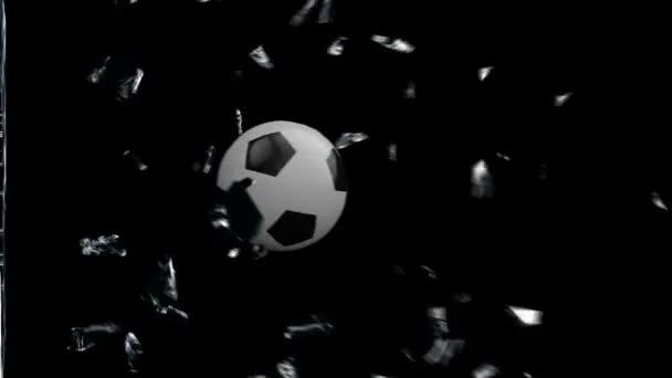 fotbalový míč rozbití skla
