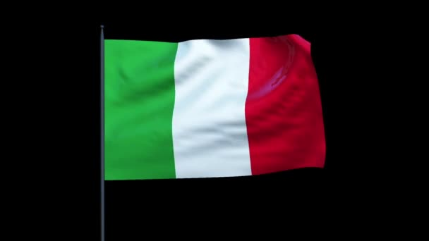 Italy Flag Waving, Seamless Loop, Alpha