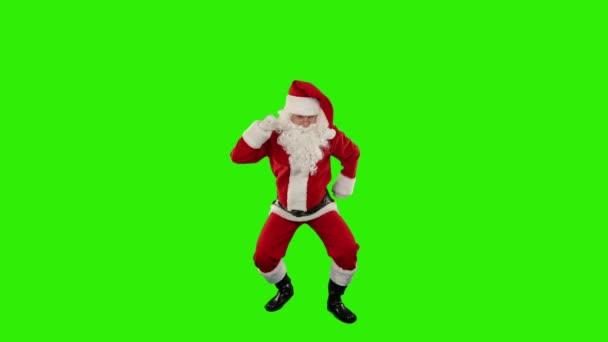 Santa claus tanec izolované