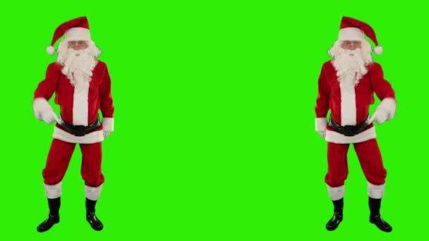 Santa claus tanec izolované, tanec