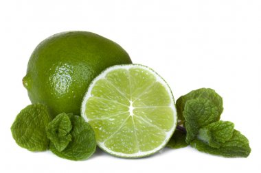 Limes and Mint Isolated