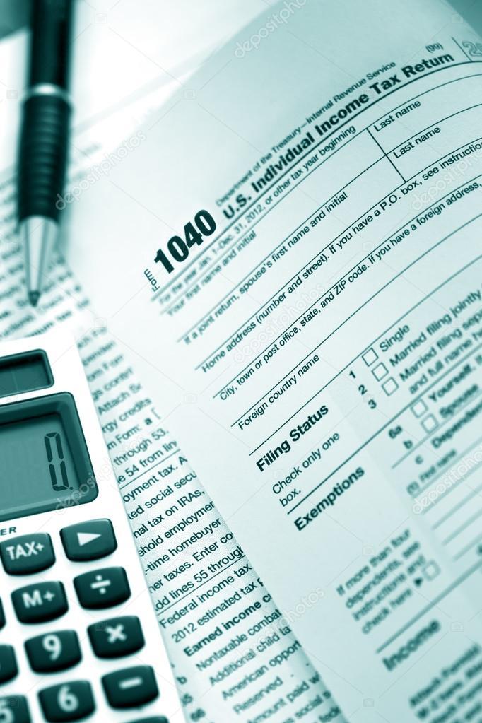 Us Tax Form 1040 Stock Photo Robynmac 19724349