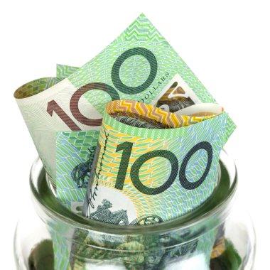 Australian Money in Jar