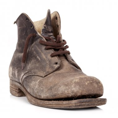 Old Boot Isolated