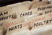 régi recept doboz