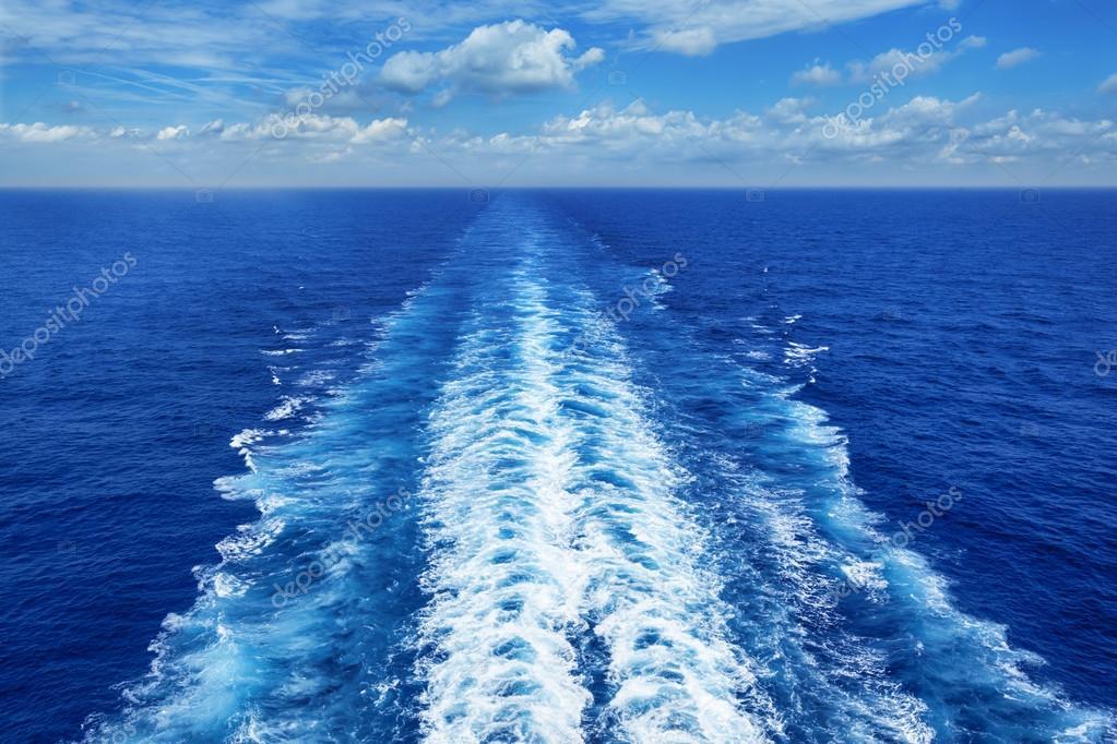 Ocean Wake from Cruise Ship