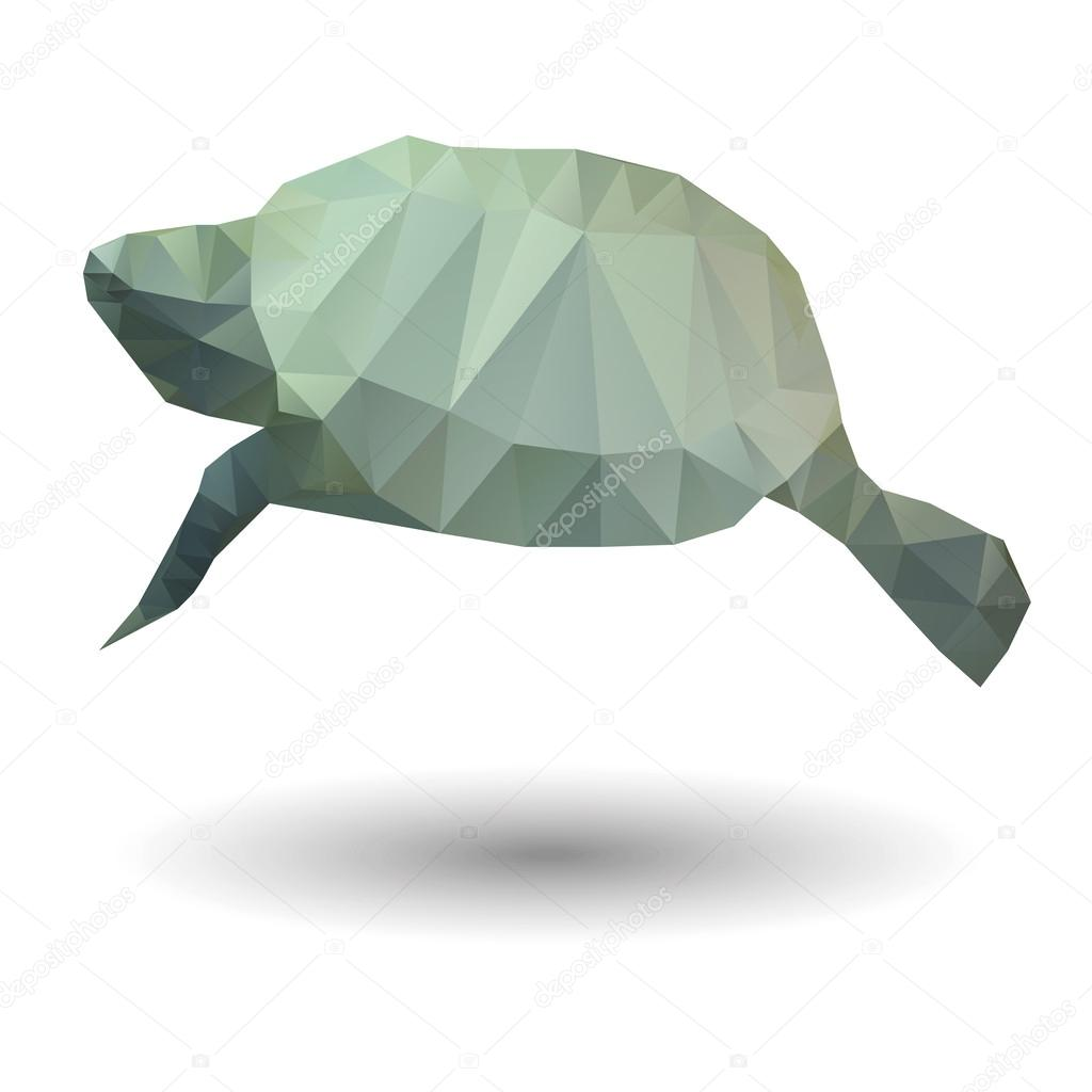 Abstract illustration of sea turtle in origami style on white abstract illustration of sea turtle in origami style on white background stock vector jeuxipadfo Image collections