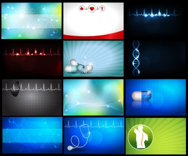 Medical business cards/wallpapers