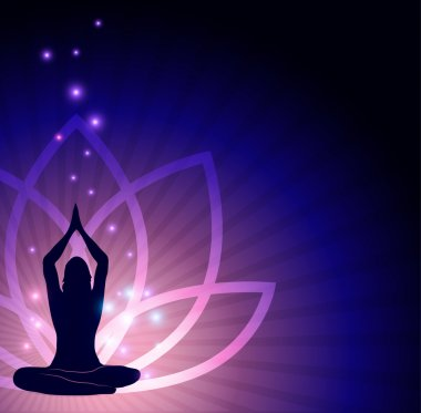 Beautiful lotus flower and yoga