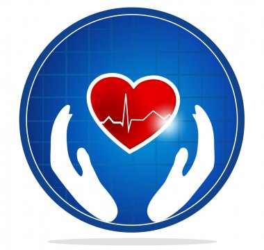 Cardiology and health care symbol