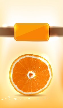 Juicy orange slice