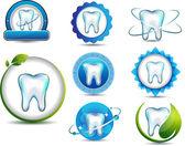 Fotografia simboli di denti