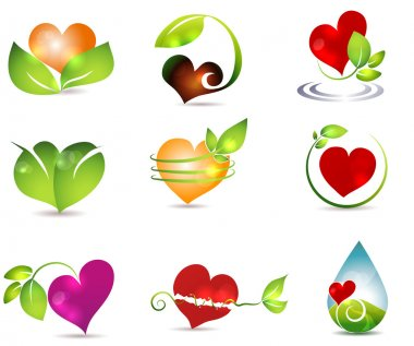 Heart and nature symbols