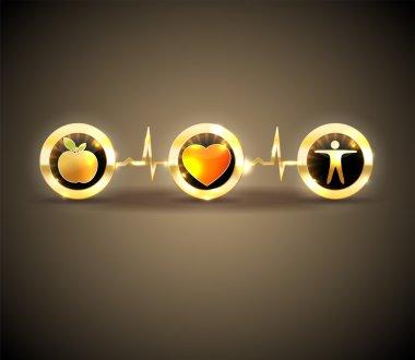 Heart health care symbols